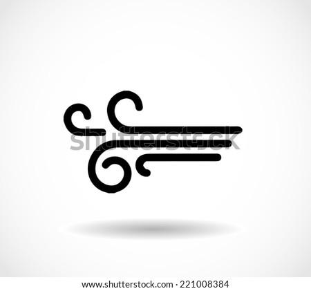 Wind icon - stock photo