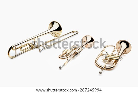 wind instruments - stock photo