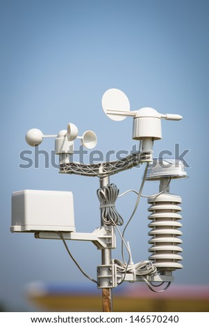 wind meter - stock photo