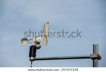 Wind meter wind measuring stations.  - stock photo