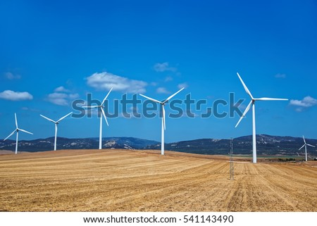 Wind mills in Spain, summer