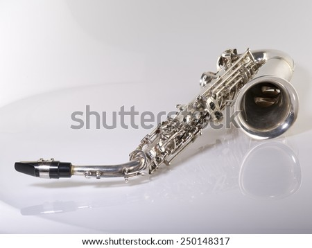 wind musical instrument on a gray background