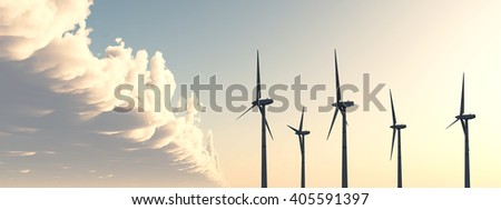 Wind power Computer generated 3D illustration