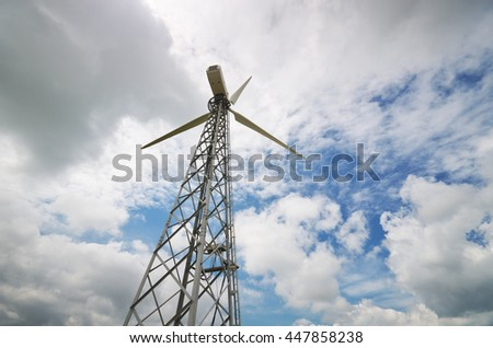 Wind power energy station. Element of design. - stock photo