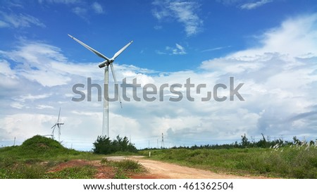 Wind power in the grassland