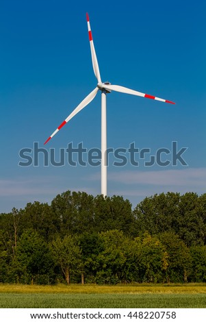 Wind power plant, energy revolution, renewable energy