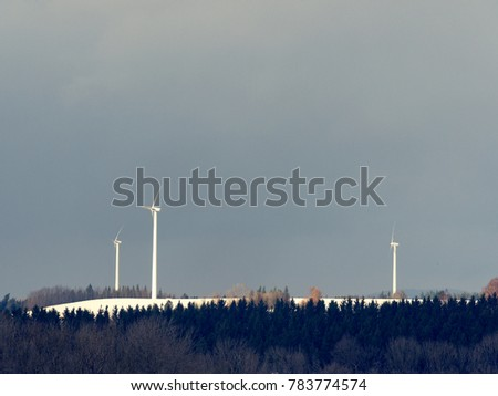 wind power plant in austria during winter