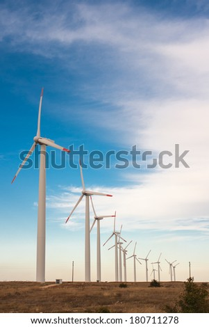 Wind power to produce electricity. Preserve the environment. Green energy sources in Lithuania.