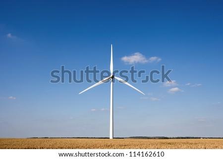 Wind Power, UK - stock photo