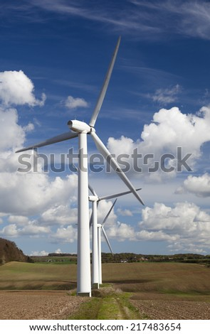 Wind power. Wind turbine. Alternative energy - stock photo