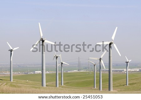 Wind powered generators in Northern California