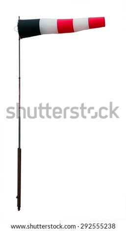 Wind sock isolated on white. Clipping path included. - stock photo