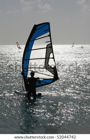 Wind Surfer - stock photo