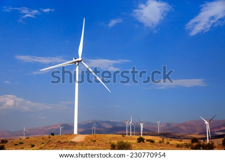Wind turbine. Alternative energy  - stock photo