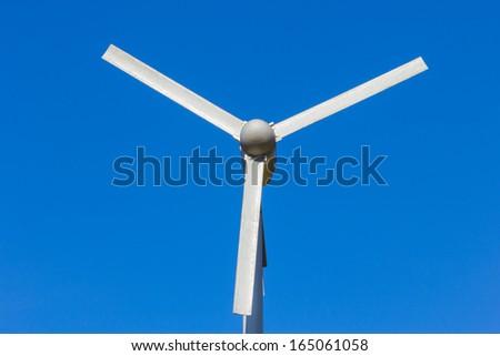 wind turbine and sky - stock photo