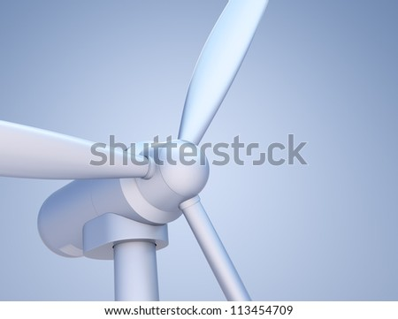 Wind Turbine Close-up (rendered with soft product type lighting)