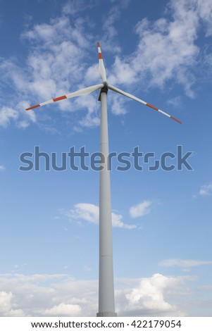 wind turbine cloudscape - stock photo