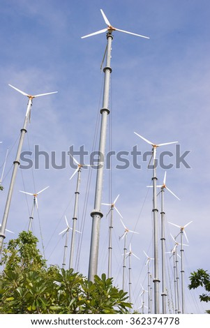 wind turbine Electricity production on Island.