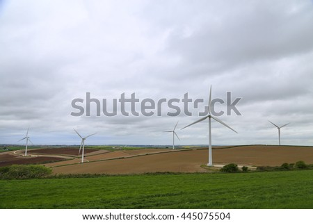 wind turbine, energy, renewable energy, field, landscape - stock photo
