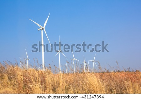 Wind turbine farm in Thailand