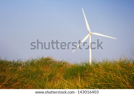 Wind turbine for generating sustainable energy.