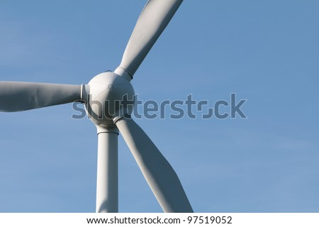 Wind turbine from the front - stock photo