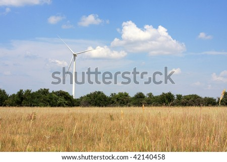 Wind Turbine in a Clean Rural Field