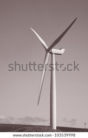Wind Turbine in Sanday on the Orkney Islands, Scotland - stock photo