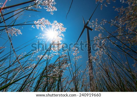 wind turbine power generator - stock photo
