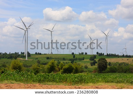 Wind turbine power generator ( renewable energy source)