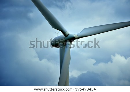 Wind Turbine propeller - stock photo