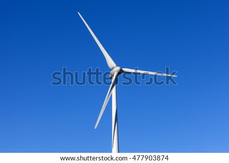 Wind turbine spinning - close up.