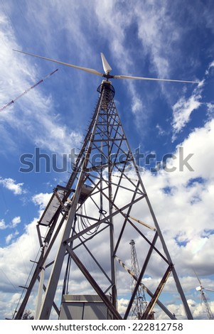 wind turbine to generate electricity - stock photo