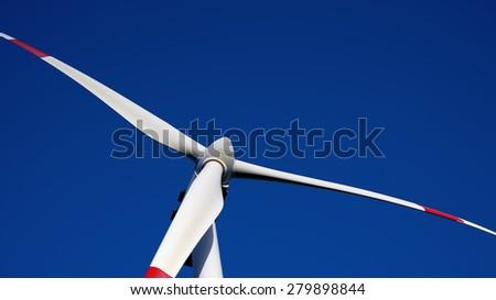 wind turbine to generate electricity symbol of renewable energy - stock photo