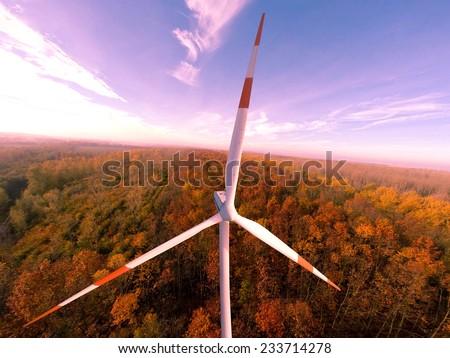 Wind turbine wind turbines wind energy wind power - stock photo
