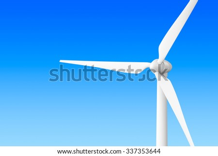 Wind Turbine Windmill on a blue background  - stock photo