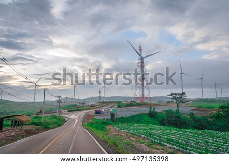 Wind turbines at Khao Kho Phetchabun