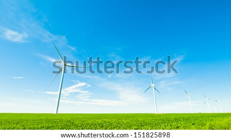 Wind turbines farm in Eastern Colorado.