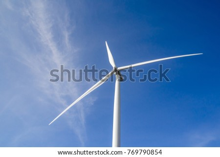 Wind turbines for electricity generation in Thailand.