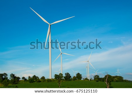 Wind turbines generate electricity in agricultural fields It makes sense that alternative energy from nature is clean energy, not affect the way of life of the community.