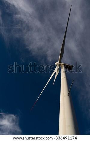 Wind-turbines on the Croatian coast - stock photo