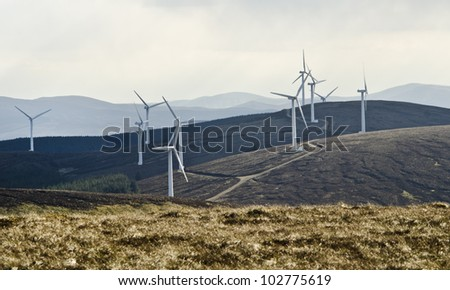Wind turbines providing a sustainable source of energy
