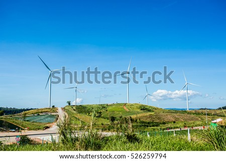 Wind wheel evolving  in Phetchabun province Thailand