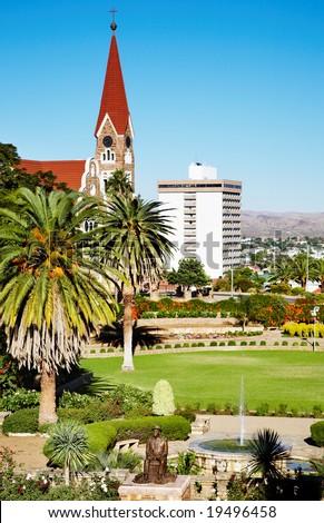 Windhoek capital of Namibia - stock photo