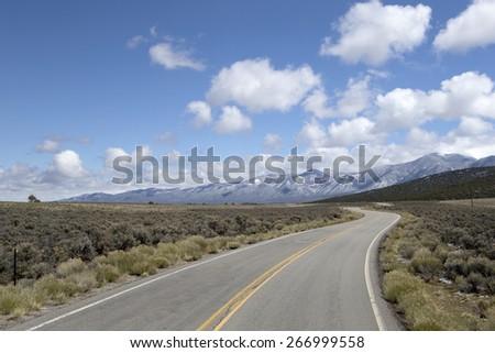 Winding mountain road - stock photo