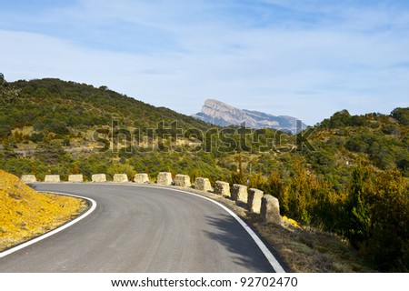 Winding Mountain Road in the Spanish Pyrenees