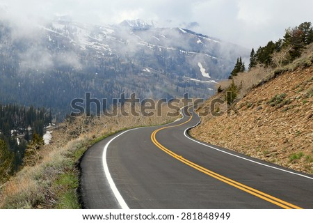 Winding mountain road, Utah, USA.