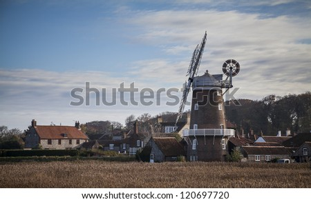Windmill at Cley-Next-the-Sea, Norfolk - stock photo