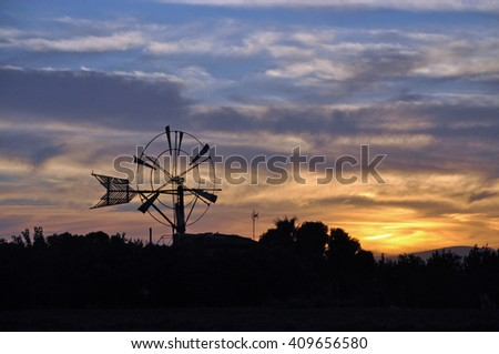 Windmill at Majorca, Spain