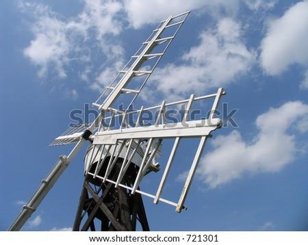 Windmill detail - stock photo